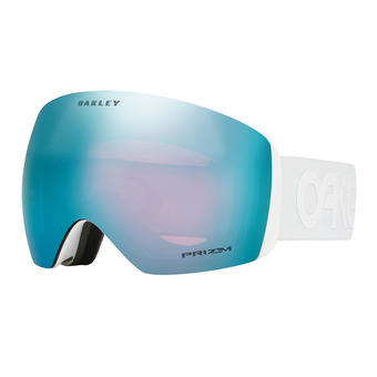 Oakley FLIGHT DECK - Maschera da sci factory pilot whiteout/prizm sapphire iridium