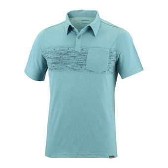 Polo hombre TRAIL SHAKER teal heather/blur stripe