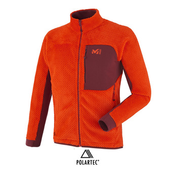 Chaqueta Polartec® hombre JORASSE BEELOFT orange/burgundy