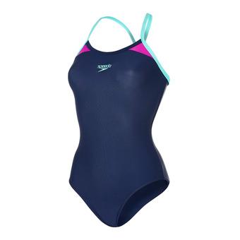 Maillot de bain 1 pièce femme SPLICE THINSTRAP navy/purple