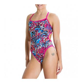 Bañador reversible mujer WATERFLOW FIREGLAM turquoise/pink