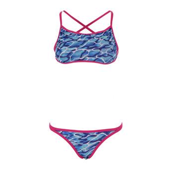 Maillot de bain 2 pièces réversible WATERFLOW FIREGLAM turquoise/pink