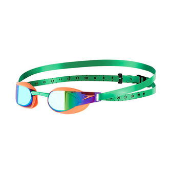 Lunettes de natation FASTSKIN ELITE MIRROR orange/green