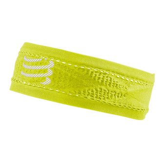 Compressport THIN ON/OFF - Bandeau neon yellow