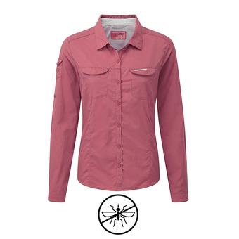 Chemise ML femme ADVENTURE blossom pink