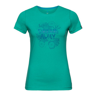Camiseta mujer KUMANO 18 pool green/placed print
