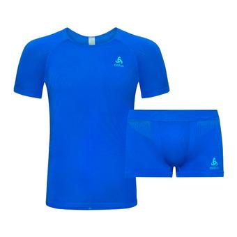 Conjunto camiseta + mallas hombre PERFORMANCE energy blue/blue jewel