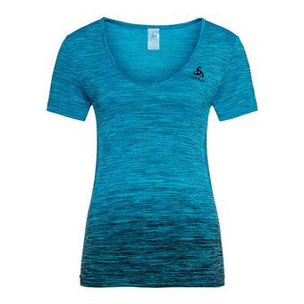 Camiseta mujer V SEAMLESS KAMILERA X blue jewel