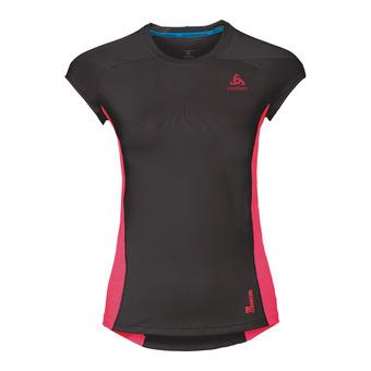 Camiseta mujer CERAMICOOL PRO black/fiery coral