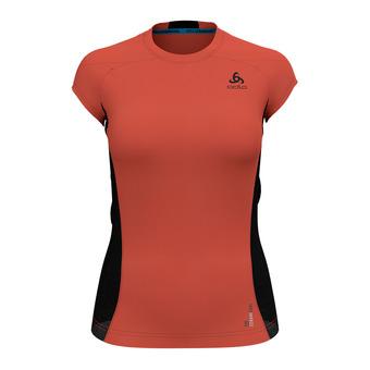 Camiseta mujer CERAMICOOL PRO fiery coral/black