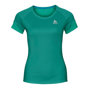 Camiseta mujer KUMANO ACTIVE pool green/crystal teal/stripes