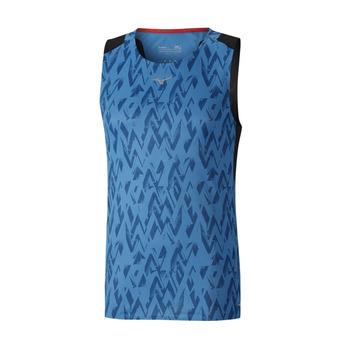 Mizuno AERO - Camiseta hombre diva blue/black