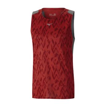 Mizuno AERO - Camiseta hombre mars/red/castlerock