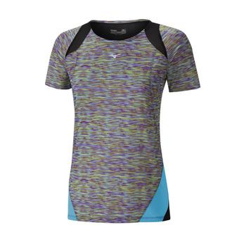 Camiseta mujer AERO multi prt/blue atoll
