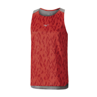 Mizuno ELITE AERO - Camiseta hombre mars red/castlerock