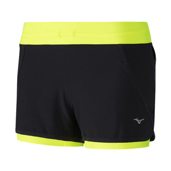 Short mujer MUJIN 4.5 2IN1 black/safety yellow