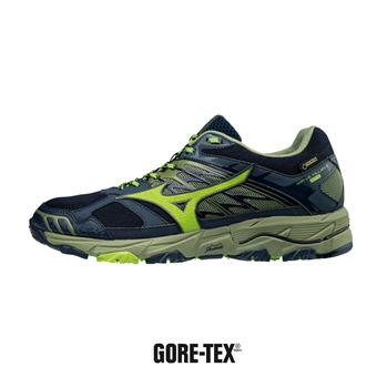 Zapatillas de running hombre WAVE MUJIN 4 GTX dressblue/greenery/oliv