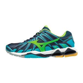 Zapatillas de voleibol hombre WAVE TORNADO X2 blue/green/blue