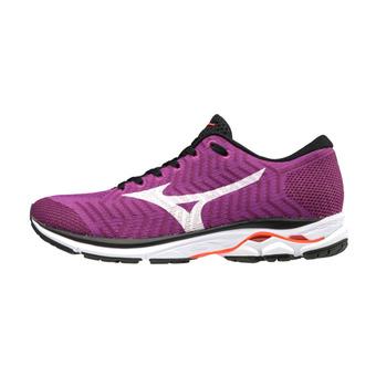 Zapatillas de running mujer WAVEKNIT R2 hviolet/white/fierycoral
