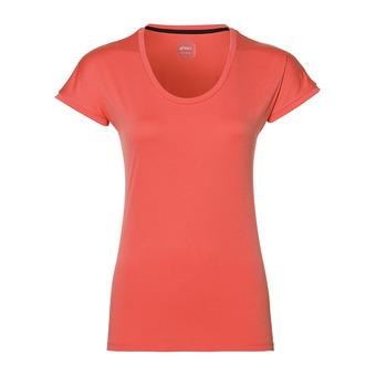 Asics CAPSLEEVE - Camiseta mujer coralicious heather
