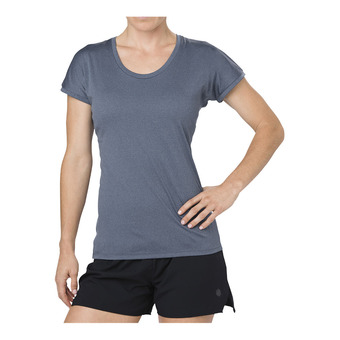 Asics CAPSLEEVE - Camiseta mujer dark blue heather