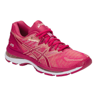Chaussures running femme GEL-NIMBUS 20 bright rose/apricot ice