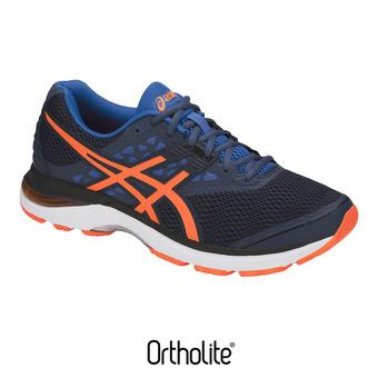 Zapatillas de running hombre GEL-PULSE 9 dark blue/shocking orange/victoria blue