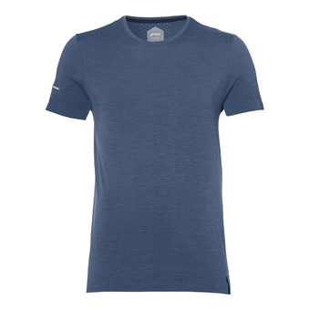 Asics SEAMLESS - Camiseta hombre dark blue heather
