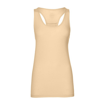 Asics CLASSIC - Camiseta de tirantes mujer apricot ice heather