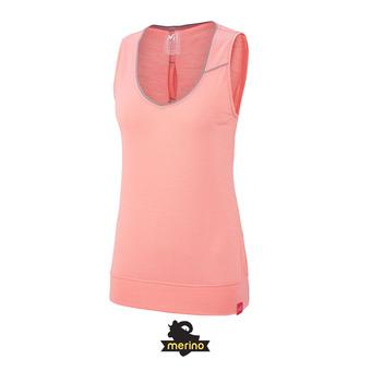 Camiseta de tirantes mujer CLOUD PEAK WOOL peach