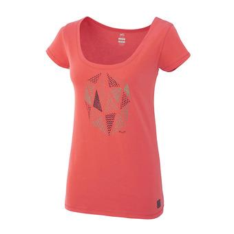 Camiseta mujer GOLDEN hibiscus