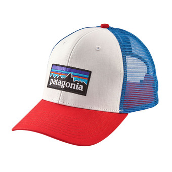 Patagonia P-6 LOGO - Cap - white/fire/andes blue