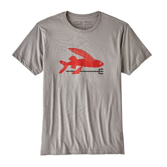 Camiseta hombre FLYING FISH ORG feather grey