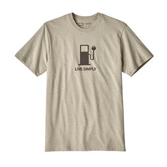 Camiseta hombre LIVE SIMPLY POWER RESP shale