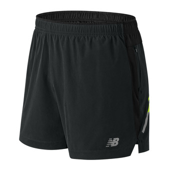 Short 2 en 1 homme IMPACT 5 black/multi