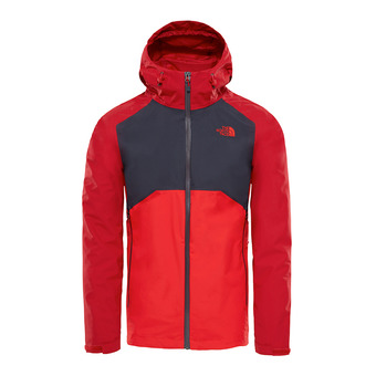 Chaqueta hombre STRATOS rage red/asphalt grey/high risk red