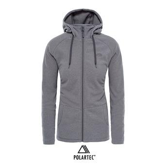 Chaqueta Polartec® mujer MEZZALUNA graphite grey stripe