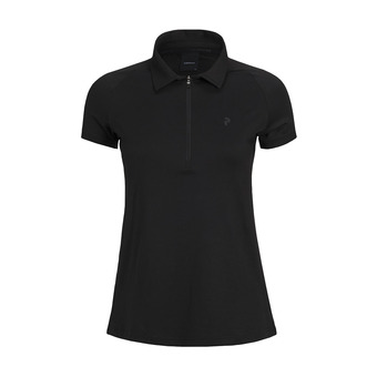 Polo mujer ZIP SS black