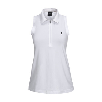 Peak Performance ZIP - Polo Femme white