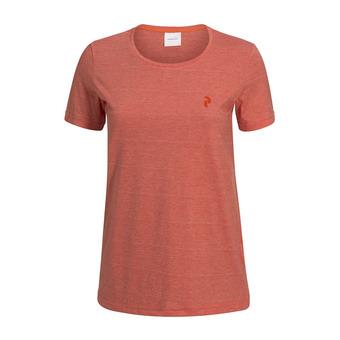 Tee-shirt MC femme TRACK orange flow