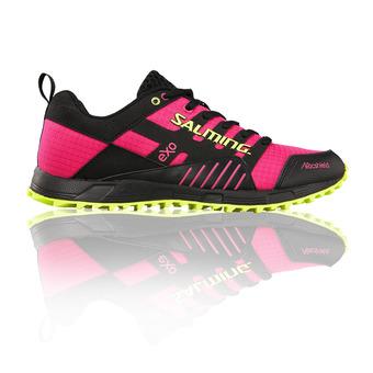 Zapatillas trail mujer TRAIL T4 negro/rosa flúor