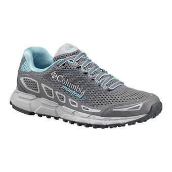 Columbia BAJADA III - Trail Shoes - Women's - grey steel/coastal blue