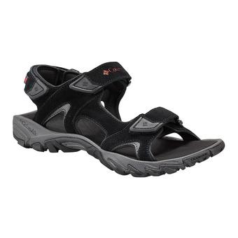 Columbia SANTIAM 3 STRAP - Sandals - Men's - black/mountain red
