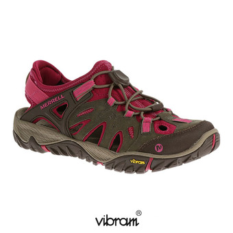 Hiking Shoes - Women's - ALL OUT BLAZE SIEVE boulder/fuchsia