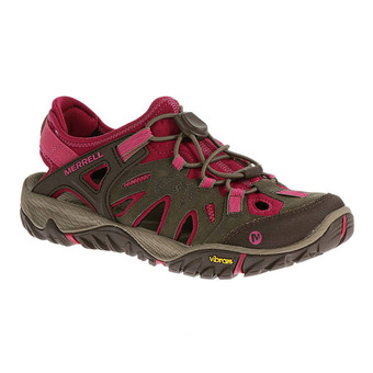 Merrell ALL OUT BLAZE SIEVE - Sandals - Women's - boulder/fuchsia