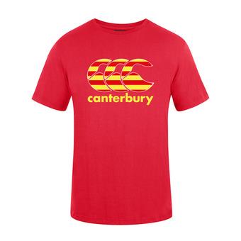 Camiseta hombre TEAM PLAIN red catalogne