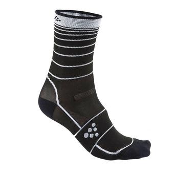 Paire de chaussettes GRAND FONDO noir/blanc