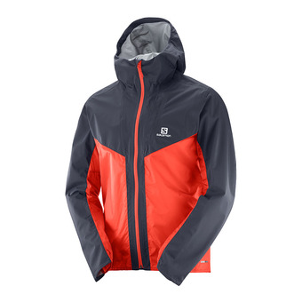 Chaqueta hombre OUTSPEED HYBRID graphite/fiery red