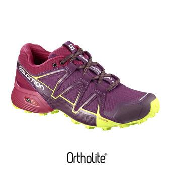 Chaussures trail femme SPEEDCROSS VARIO 2 dark purple/cerise/lime