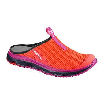 Sabots de récupération femme RX SLIDE 3.0 fiery coral/blue/pink